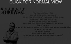 Charles Bukowski Drinking Quote Charles bukowski quotes hd