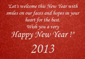 Happy New Year 2013 Quotes