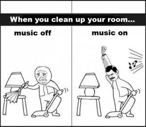 Related Boring Activities Plus Music = Win