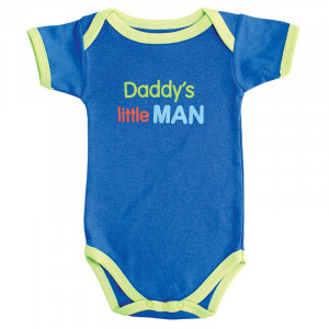 Baby Boy Romper Family Sayings daddy's little man Short sleeve ...