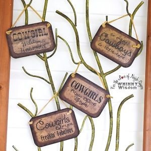 Fun-And-Sassy-Your-Choice-of-Cowgirl-Sayings-on-Tin-Plaques ...