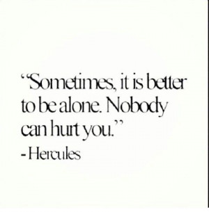 Hercules Wisdom alone single quotes