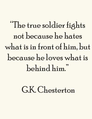 chesterton quotes sayings true soldier clever quote