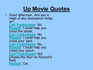 Up Movie Quotes Russell Up Movie Quotes