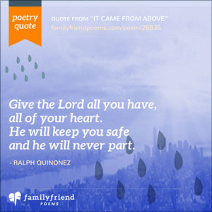 religious poems about family and friends
