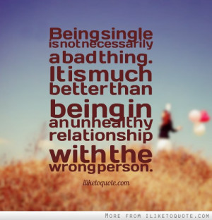 is not necessarily a bad thing it is much better than being in an ...