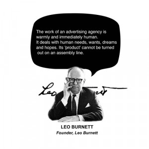 The work of an advertising agency is warmly and immediately human. It ...