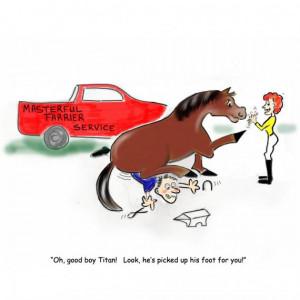 Horse Grooming Funny Cartoons