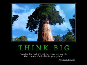 Motivational wallpaper on Think Big : And in the end it's not the ...