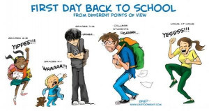 First day back to school..