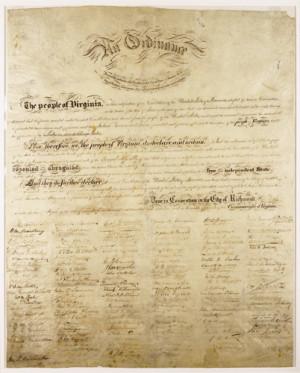 South Carolina Ordinance of Secession Document