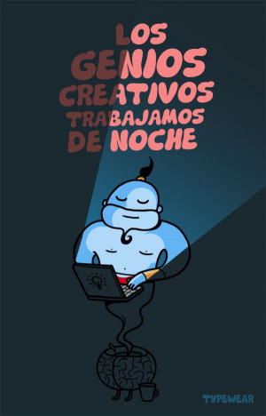 La #Creatividad es nocturna #design #quotes