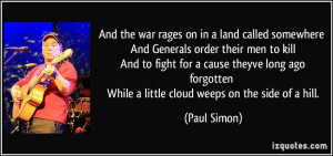 ... fight for a cause theyve long ago forgotten While a little cloud weeps