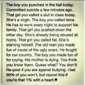 -Bullying+Quotes | Powerful anti-bullying message. | Cliches QUOTES ...