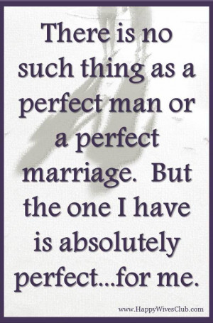 There is No Such Thing as a Perfect Man