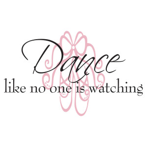 Ballet Dance Quotes Dance wall decal quote dance