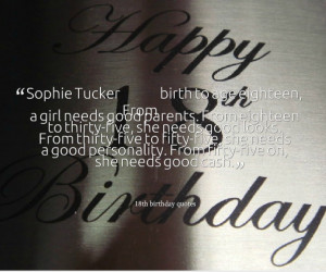 ... 2013 November 19th, 2013 Leave a comment quotes 18th birthday quotes