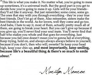 Marilyn Monroe was brilliant…
