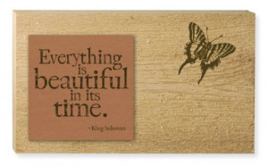 Everything is Beautiful Quote Wooden Cedar Decorative Garden Sign