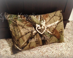 Hunting Camo Couples Anniversary Pi llow ...