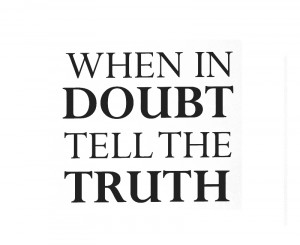 ... Decal Sticker Quote Vinyl Art Lettering Graphic Tell the Truth Honesty