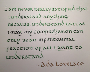 Quote of the Week - Aug. 25 - 31, 2014 : Calligraphy