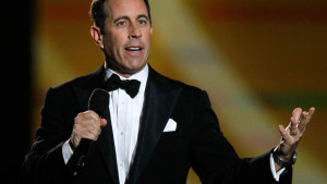 Jerry Seinfeld performs during a star-studded double-taping of ...