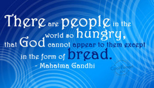 Poverty Quote: There are people in the world so... Food-(5)