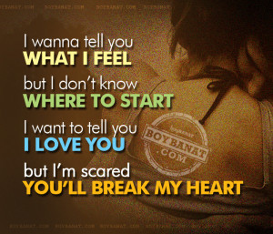 Is in love with me.