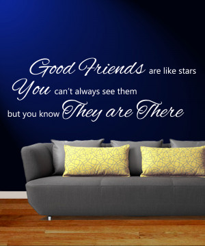 Good-Friends-are-like-Stars-Wall-Quote-Giant-Sticker-Decal-Vinyl-Art ...