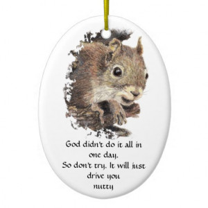 Funny Stress DriveYou Nutty, Quote Cute Squirrel Double-Sided Oval ...