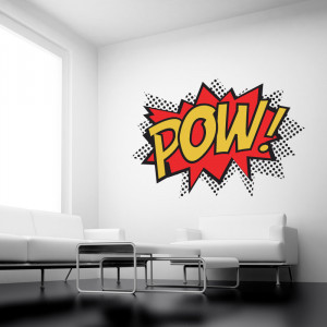 POW! Wall stickers Full Colour Wall Quote by Serious Onions Ltd at ...