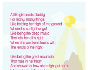 little girl needs Daddy quote pri ntable pdf instant download New Dad ...