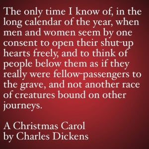 My Favorite Quotes from A Christmas Carol #6 – …open their shut-up ...