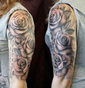 rose sleeve tattoos with quotes quotesgram. Black Bedroom Furniture Sets. Home Design Ideas