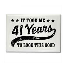 Happy 41st Birthday Magnets | Happy 41st Birthday Refrigerator Magnets