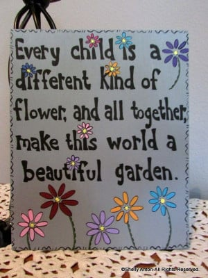 Wood Signs For Teachers, Spring Flower, Quotes For Teachers For Flower ...