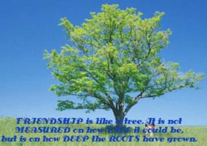 Friendship Is Like A Tree