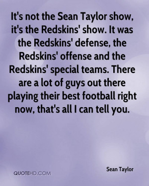 , it's the Redskins' show. It was the Redskins' defense, the Redskins ...