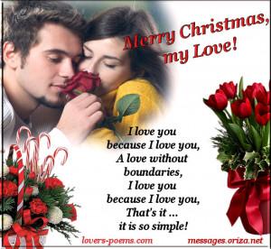 Romantic Love Christmas Message – 4