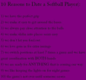 10 reasons to date a softball player Image