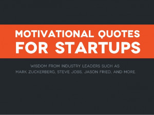 Motivational quotes for startups