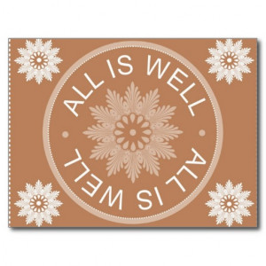 word_quotes_all_is_well_motivational_postcard ...