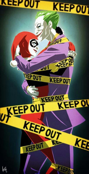 Joker and Harley Quinn. Keep out of our relationship.
