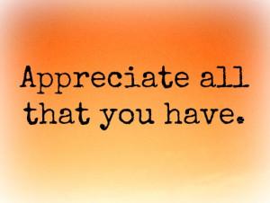 You Never Truly Appreciate