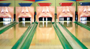 Creative Dentist Ad Placement At A Bowling Alley