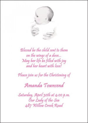 Sweet Baby Baptism Christening Invitation Cards areBecoming Very ...