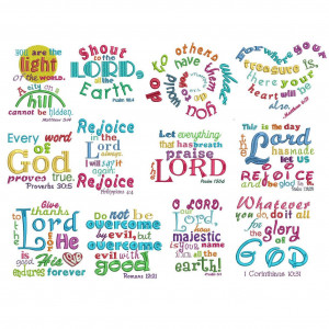 Bible verses subway art heavenly inspirations set 2 machine embroidery ...