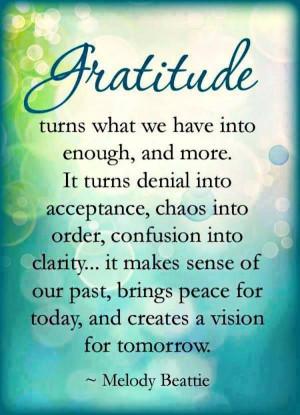 Gratitude Melody Beattie