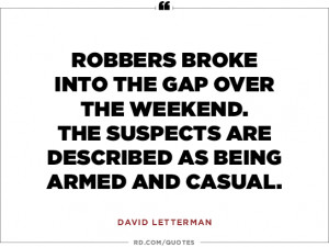 David Letterman on crime...